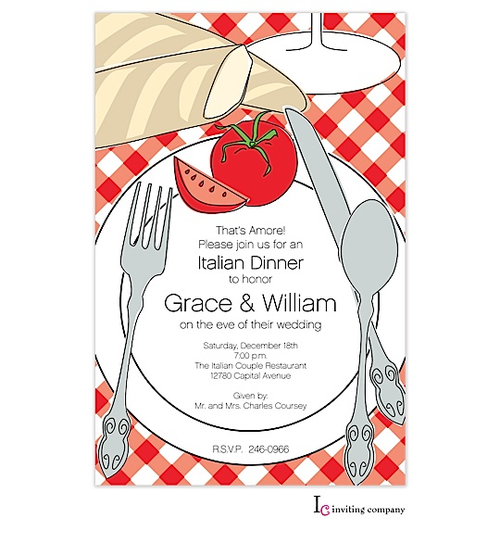 Italian Theme Party Invitations New Selections Summer 2016
