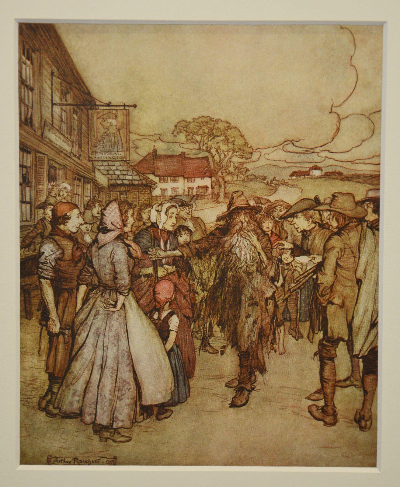 Arthur Rackham 'They Crowded Round Him' illustration, 1919 | eBay