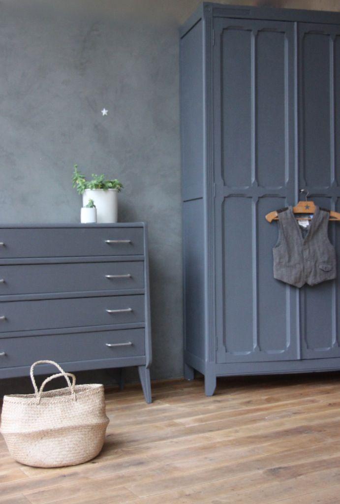 armoire parisienne et commode vintage wwwpetitebelette Idées - Repeindre Un Meuble En Chene