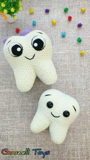 CROCHET TOOTH PATTERN, Amigurumi crochet tooth fairy pattern, Crochet first baby tooth, Easy crochet