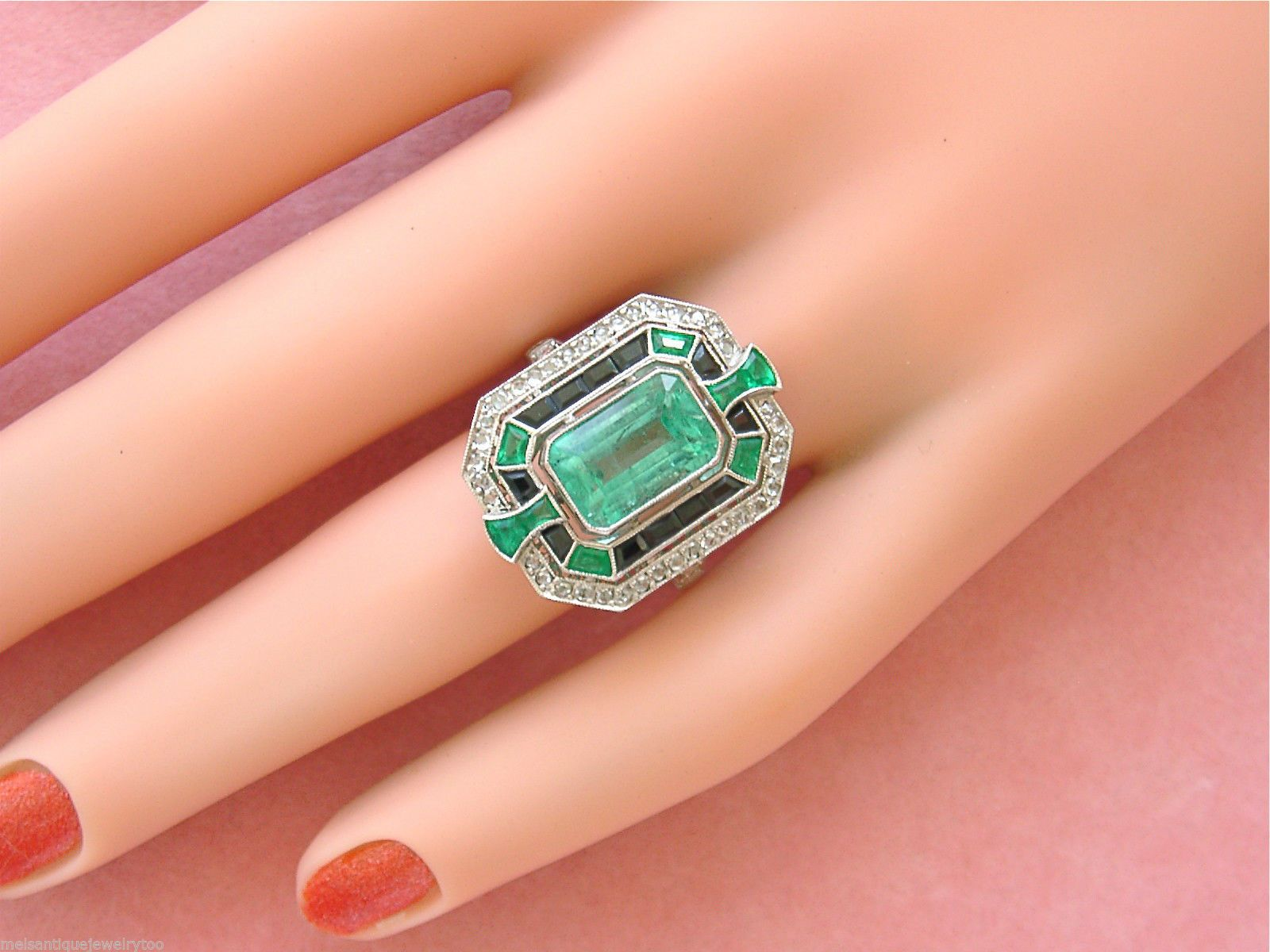 photo emerald peach il ring listing blake engagement gold fullxfull rose sapphire gallery