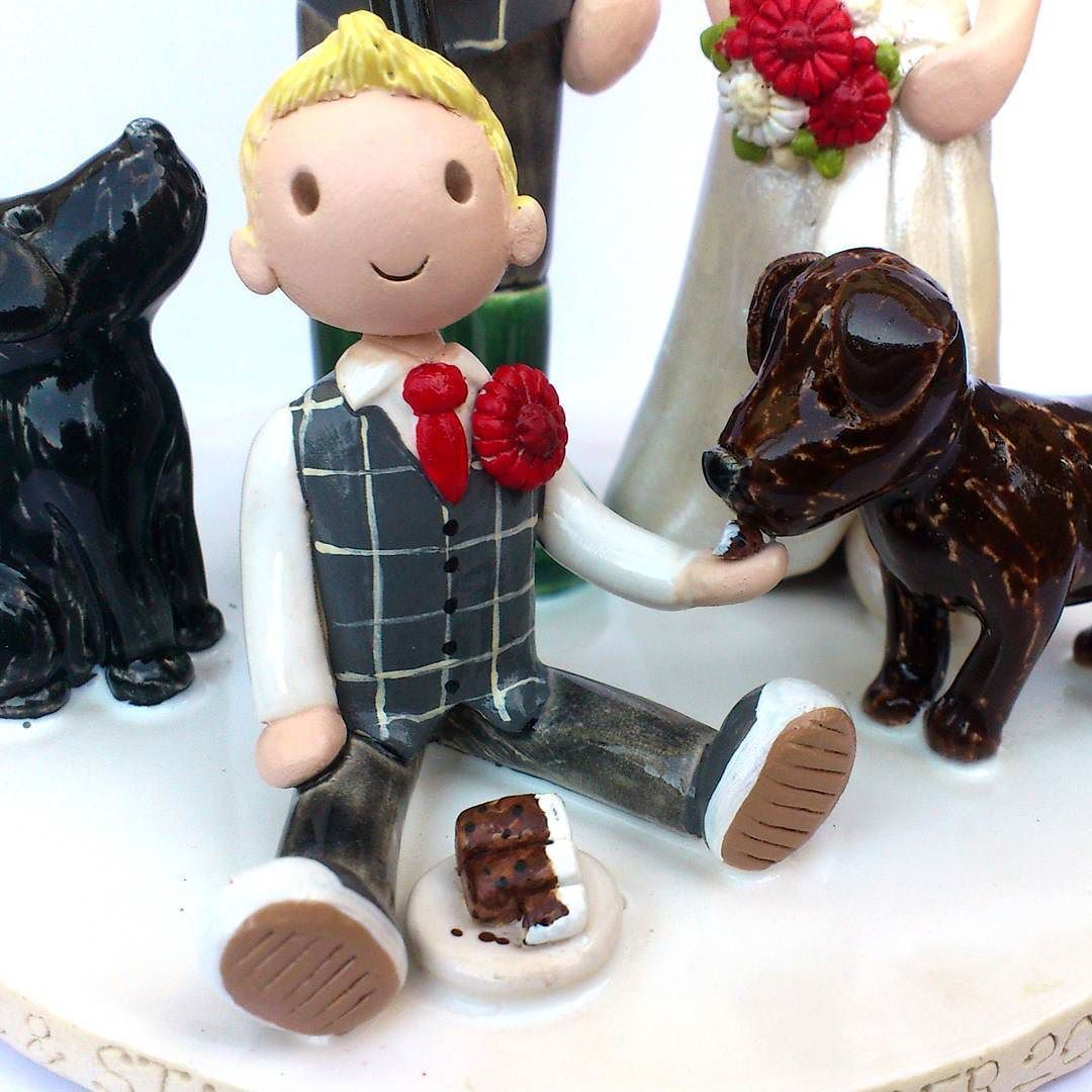Cute little addition to a cake topper the bride and grooms son