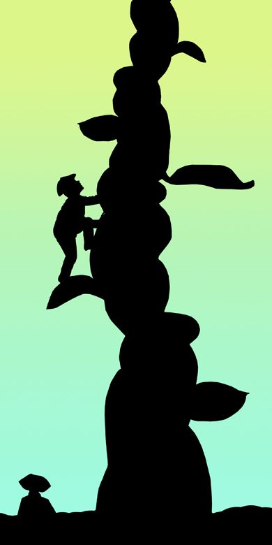 Jack and Beanstalk Silhouette | Projects | Silhouette, Preschool