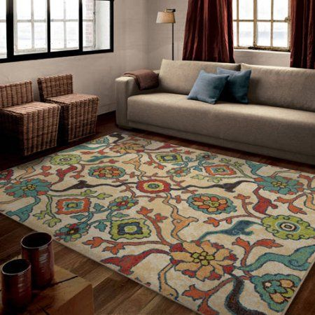 Orian Rugs Bright Color Floral Punjab Multi Area Rug Size 7 10