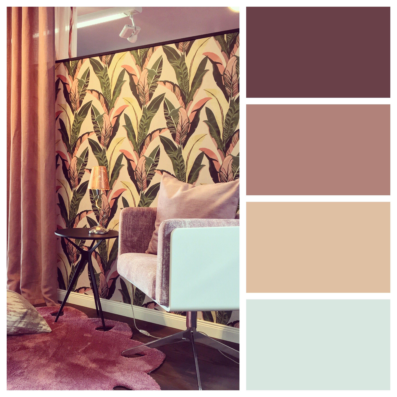 Inspiration zur Raumgestaltung mit Farben in warmen Beeren