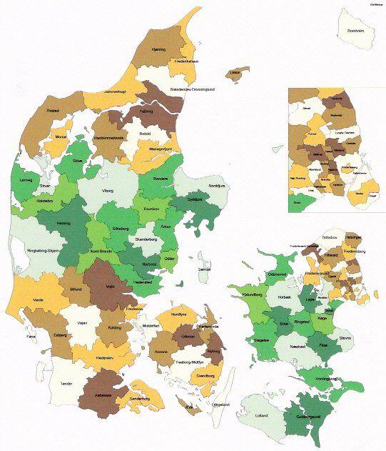 2013 09 Danske Kommuner Og Regioner Danmark Plakater Kort