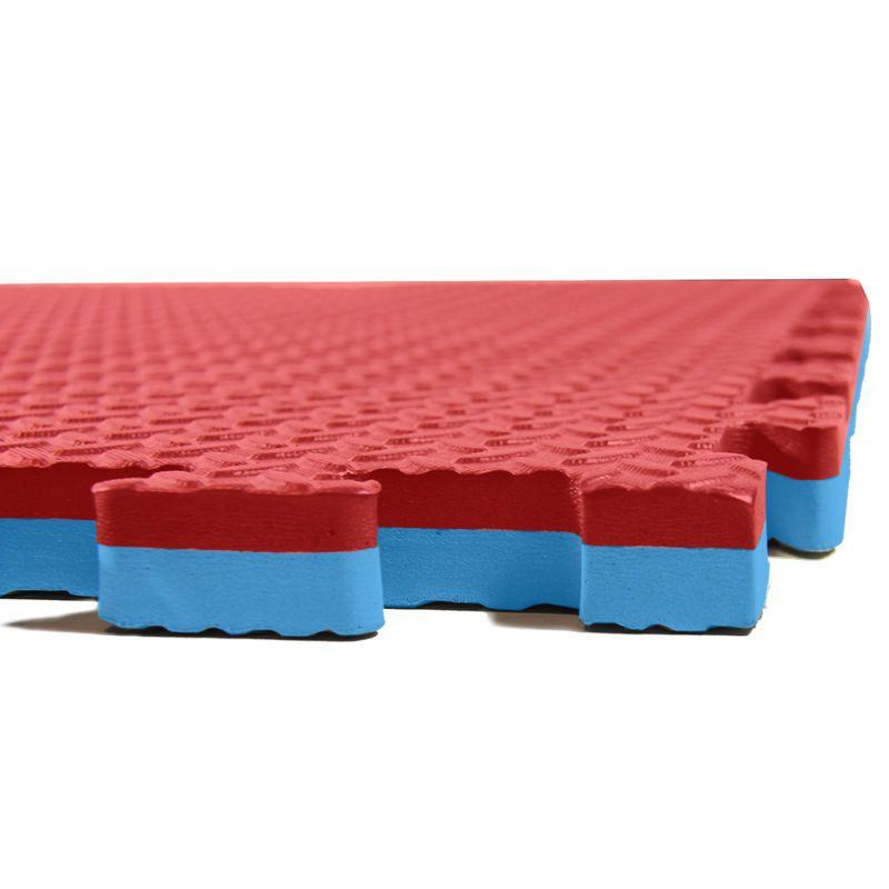 Clevr 1 Extra Thick Eva Foam Mat Interlocking Gym 12pcs 48 Sqft Blue Red Mma Foam Mat Flooring Eva Foam Mats Foam Flooring
