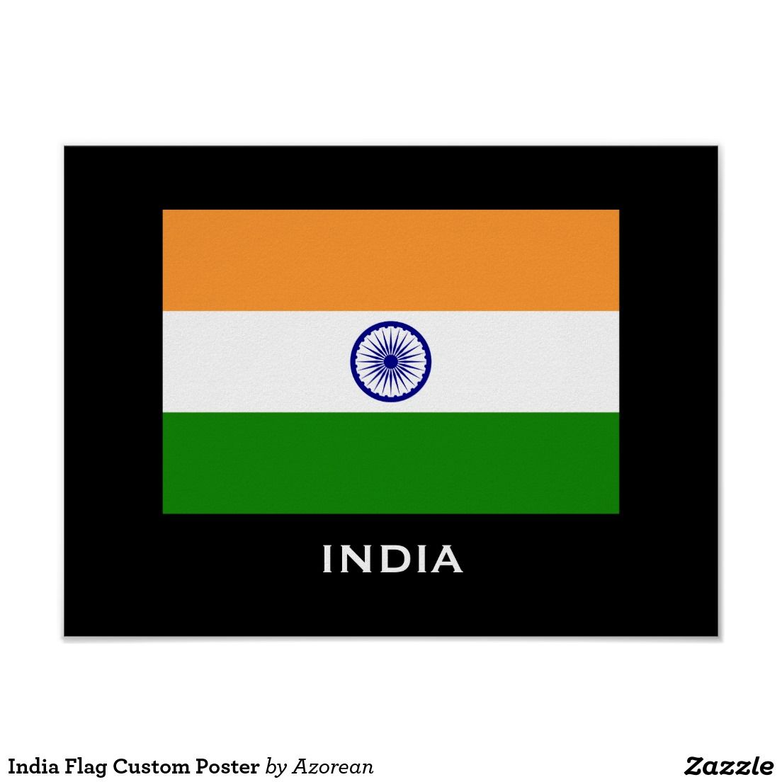 India Flag Custom Poster