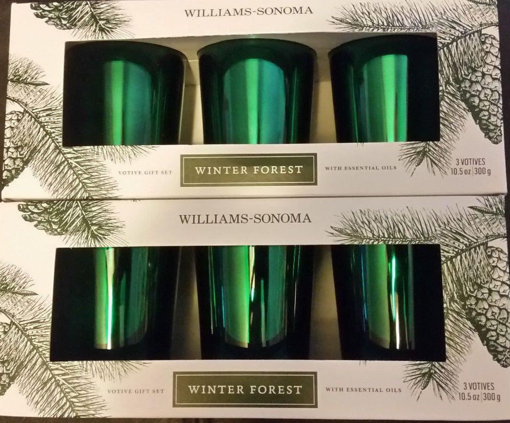 2 williams sonoma essential oils winter forest votive