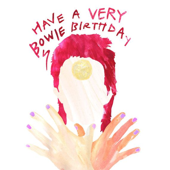 David Bowie Birthday Card With Pop-Up By MTCCraft On Etsy