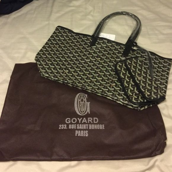 Goyard St Louis Tote Black Size MM Comes With Dust Bag And Wallet - How to create a paypal invoice goyard online store