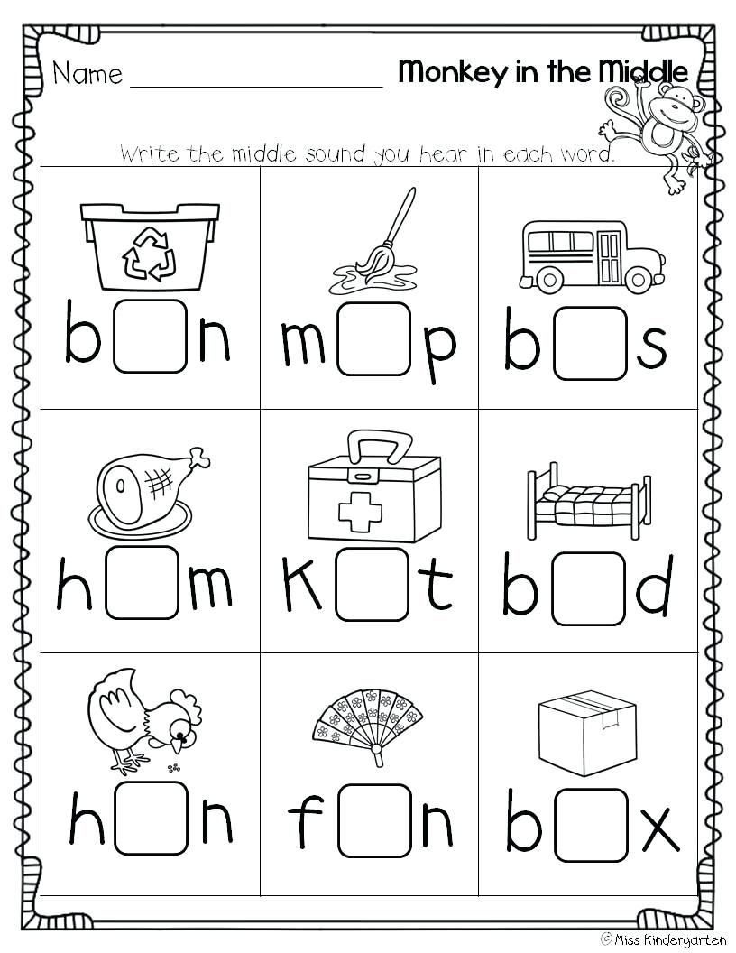 4 Worksheet Free Preschool Kindergarten Worksheets Consonants Ending Cons Cvc Worksheets Kindergarten Middle Sounds Worksheet Kindergarten Worksheets Printable