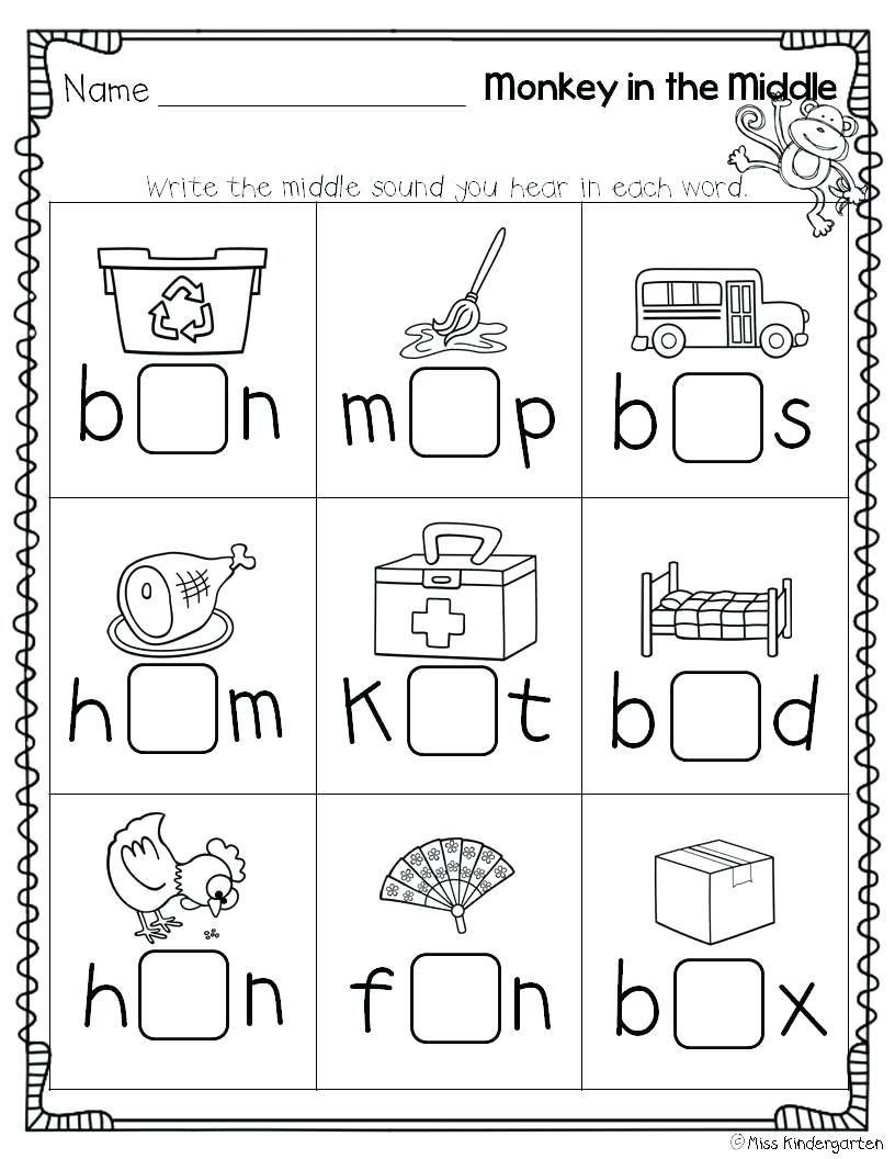 4 Worksheet Free Preschool Kindergarten Worksheets Consonants Ending Cons Cvc Worksheets Kindergarten Middle Sounds Worksheet Kindergarten Worksheets Printable