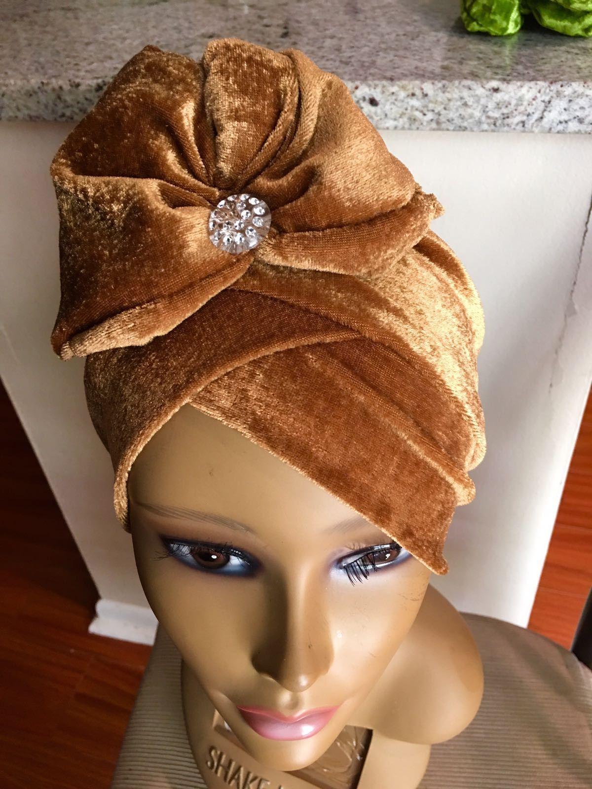 Caramel turban cap with stud products pinterest turban cap