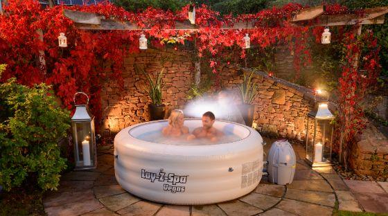 lay z spa inflatable hot tub setup advice outdoor garden. Black Bedroom Furniture Sets. Home Design Ideas