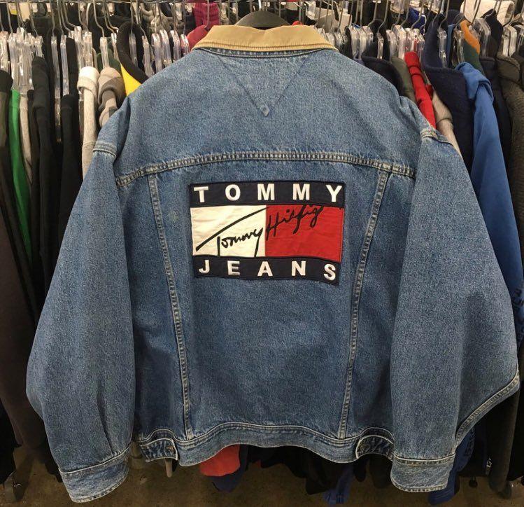 Tommy Jeans 90s White Denim Jacket Urban Outfitters Men Denim Jacket Men 90s Denim Jacket