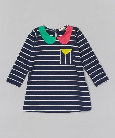 Navy Stripe Tunic - Infant, Toddler & Girls