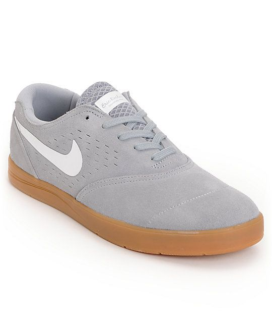 e51178e785 Get fitted in classic style and start skating like one of the greatest in  the Nike Eric Koston 2 Lunarlon wolf grey, white and gum skate shoe. These Nike  SB ...