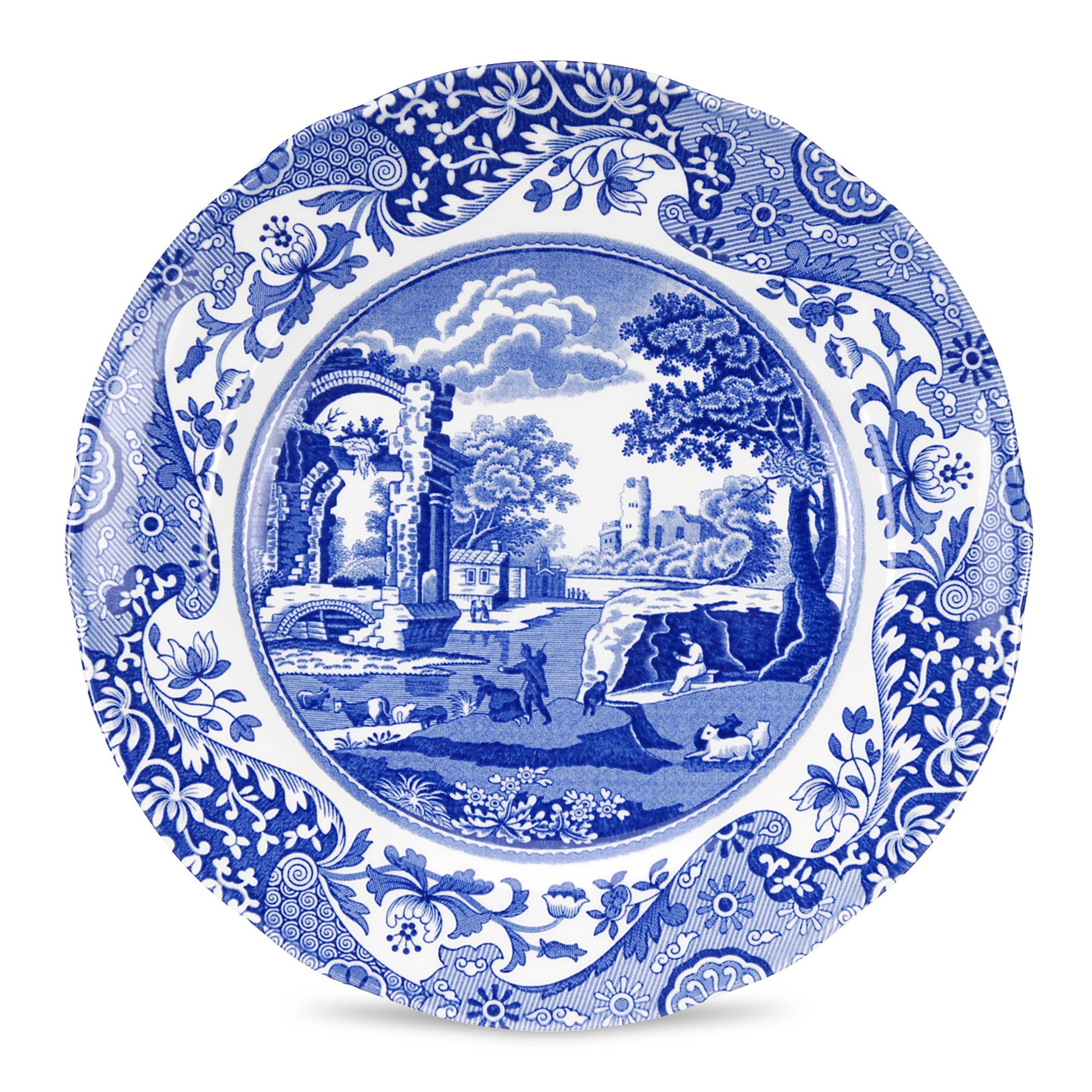 Blue Italian Porcelain Salad Plate  sc 1 st  Pinterest & Blue Italian Porcelain Salad Plate | Salad plates and Products