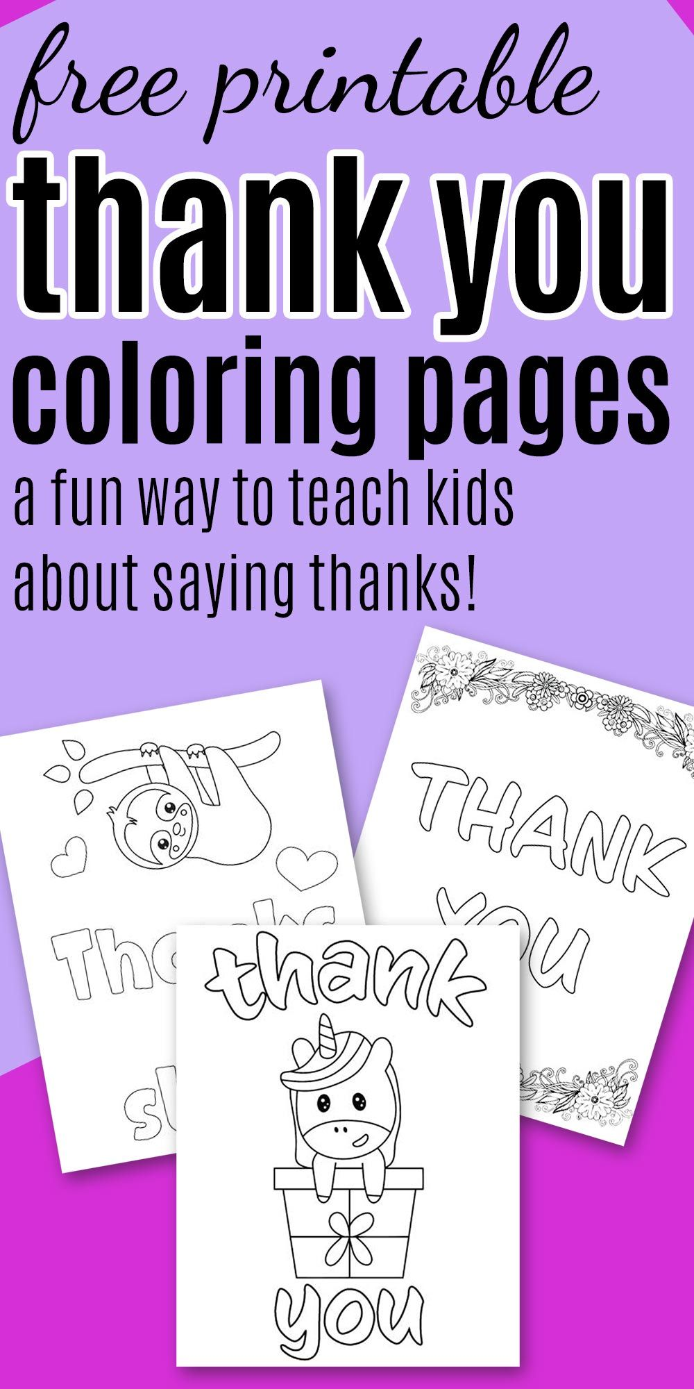 7 Free Printable Thank You Coloring Pages Printable Coloring Cards Printable Thank You Cards Thank You Printable