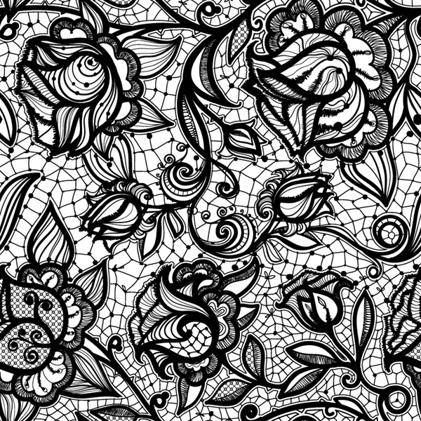 Black Lace Pattern Background Vector Graphics My Free Photoshop Lace Drawing Lace Background Lace Pattern