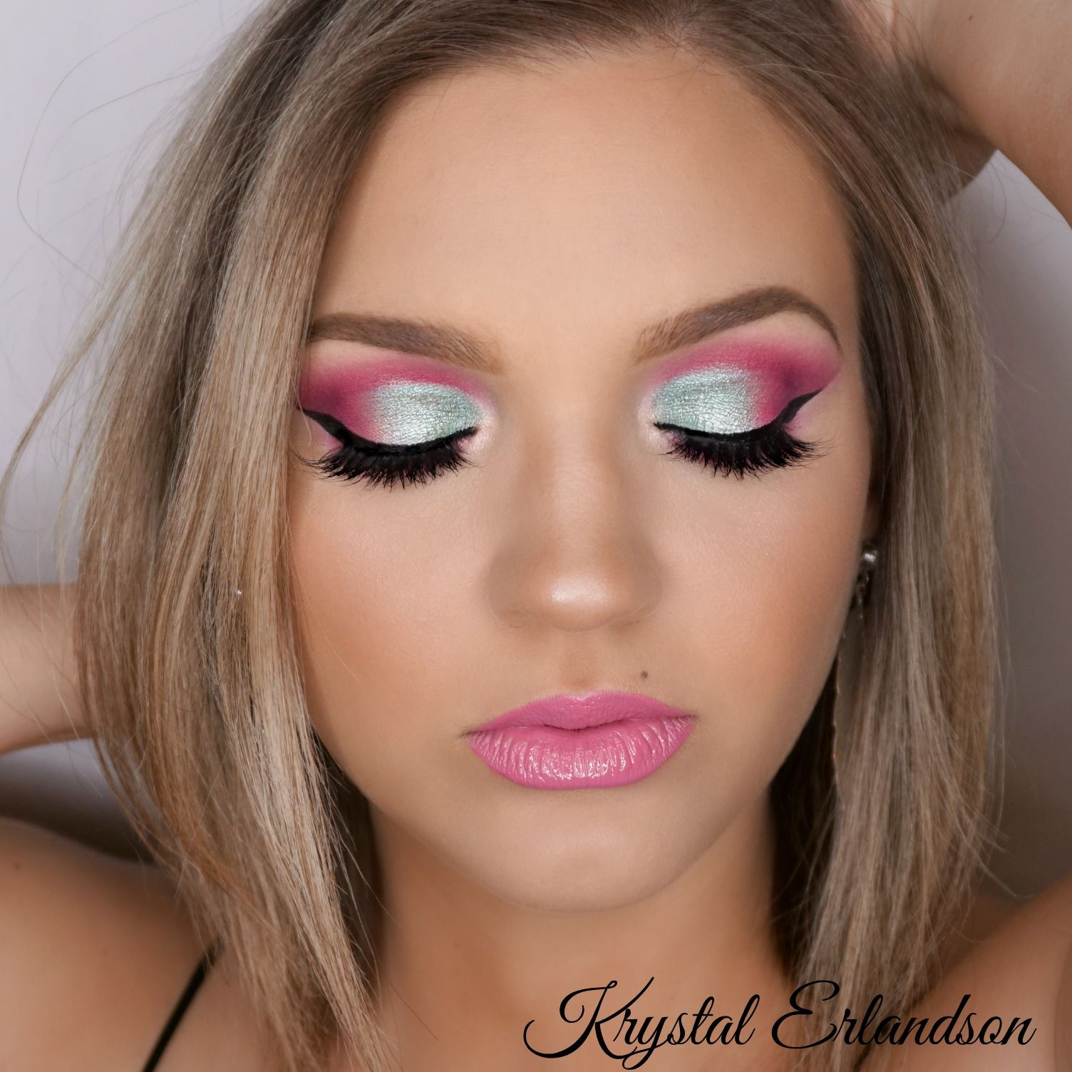 Pink/Teal Makeup Tutorial Makeup Geek Teal makeup
