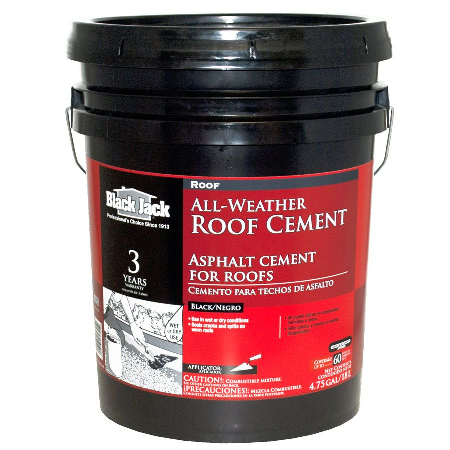 Black Jack 4 75 Gallon Fibered Waterproofer Cement Roof Sealant Roof Cement Roof Sealant Roof Sealer