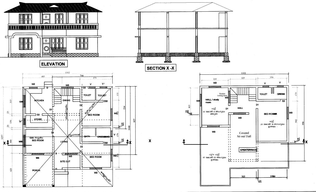Image Result For Autocad Built Plan Section Elevation Free House Plans House Plans How To Plan