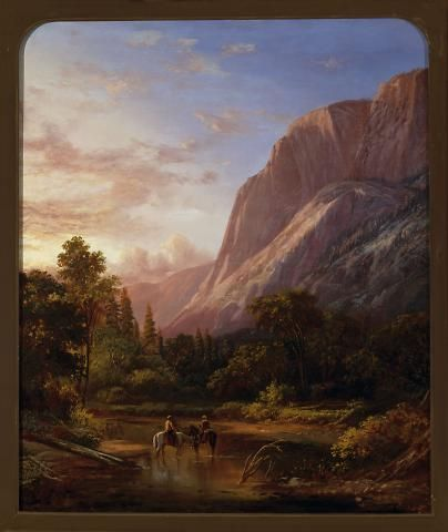 """Glacier Rock, Yosemite,"" William Keith, 1869, oil on canvas, 30 x 25"", Oakland Museum of California."