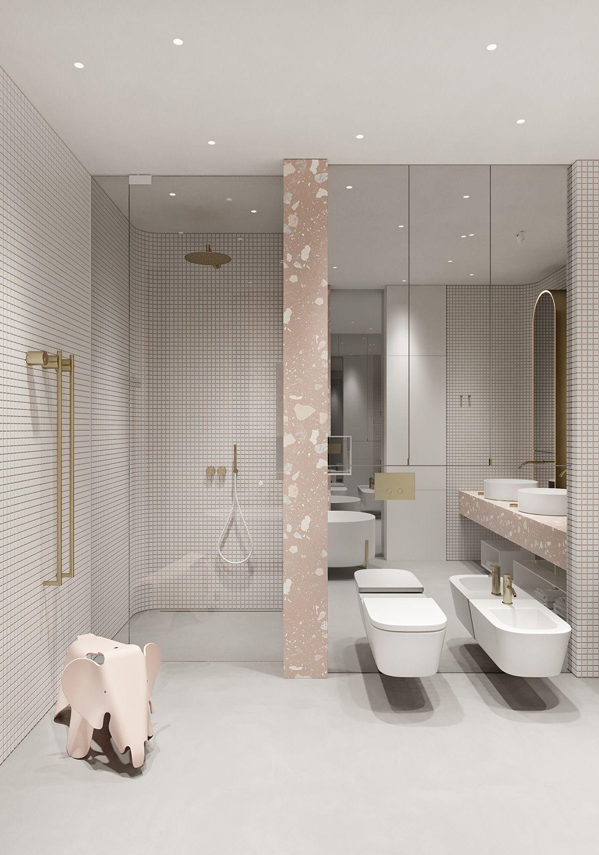 "TOLKO / ""OATS FLAT"" Part 3 on Behance  Bathroom interior design"