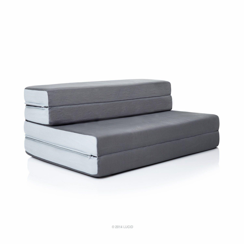 Lucid 4 Inch Folding Mattress
