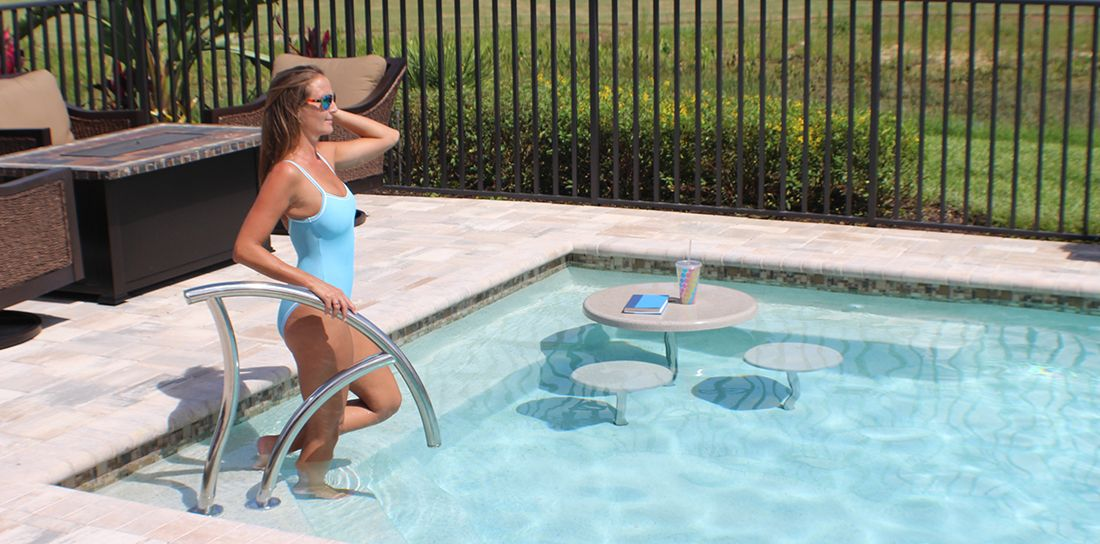 Interfab swimming pool ladders and swimming pool