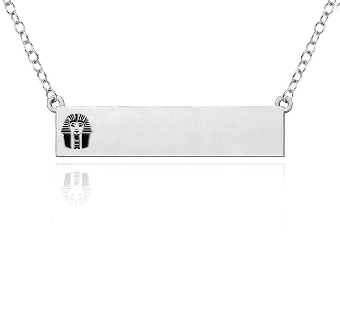 Phi Sigma Sigma Symbol Sterling Silver Bar Style Necklace Sterling