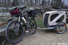 Bob Bug Out Bike With Trailer Setup With Images Bike Trailer Dog Trailer Bike