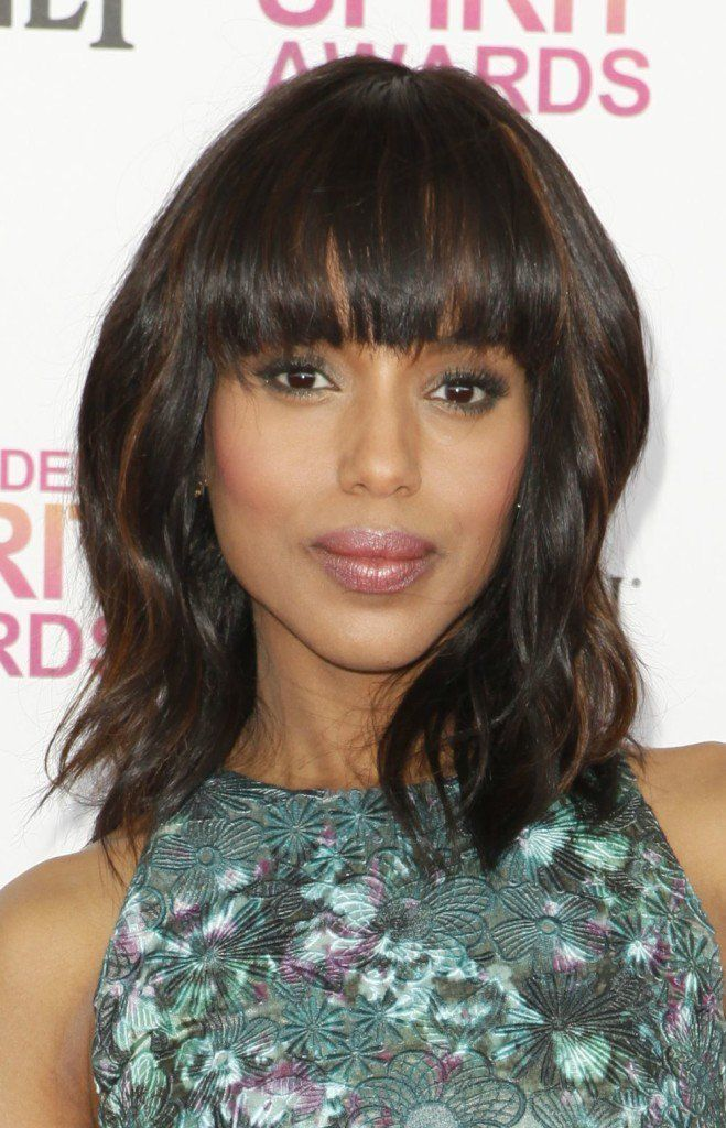 Kerry Washington with Bangs - love this hairstyle on her.