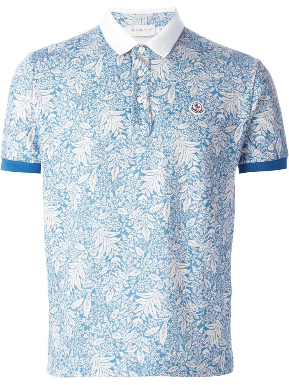 free shipping 5a6d8 4c7e9 Moncler Poloshirt Mit Floralem Print - - Farfetch.com ...