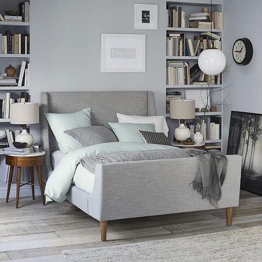 Upholstered Sleigh Bed | Dulce hogar, Dulces y Hogar
