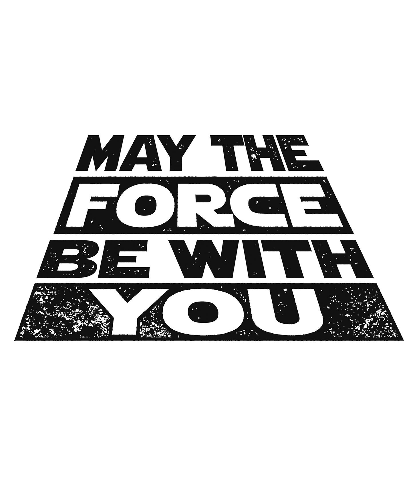 May The Force Be With You Star Wars Decal White Choose Size