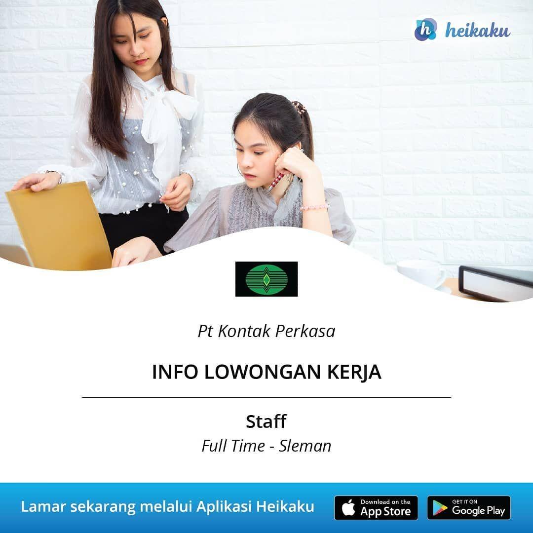 Informasi Lowongan Kerja Posisi Staff Perusahaan Pt Kontak