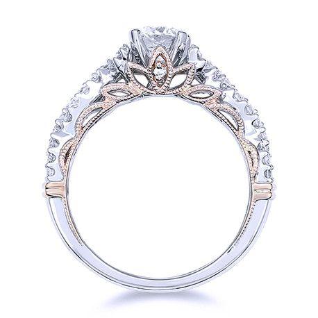 Stunning Vintage Inspired Diamond Engagement Ring Andrews Jewelers