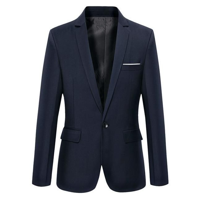 Men's casual navy jacket