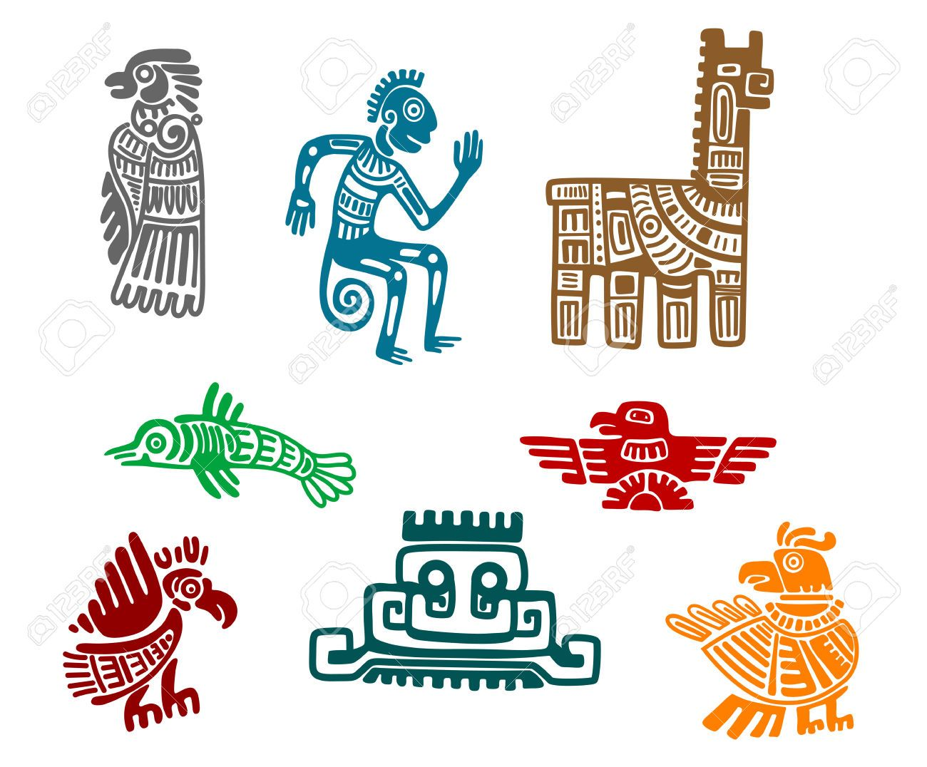 Fabuleux Resultado de imagen de dibujos aztecas mayas e incas | chichen  AZ61