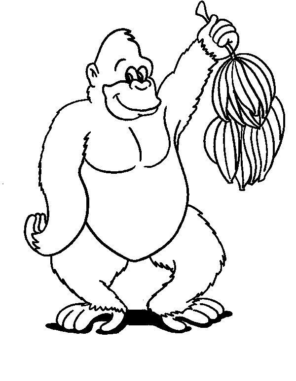 Ausmalbild Affen - Affen   Bennni Hildebrandt   Pinterest   Affen ...