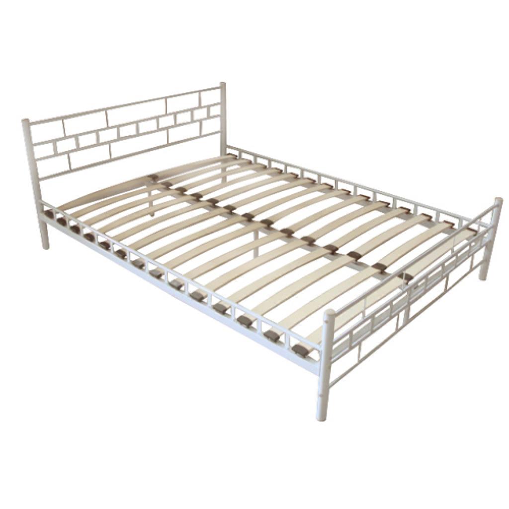 łóżko Metalowe Podwójne Stelaż 180x200 Malta B 4735512343
