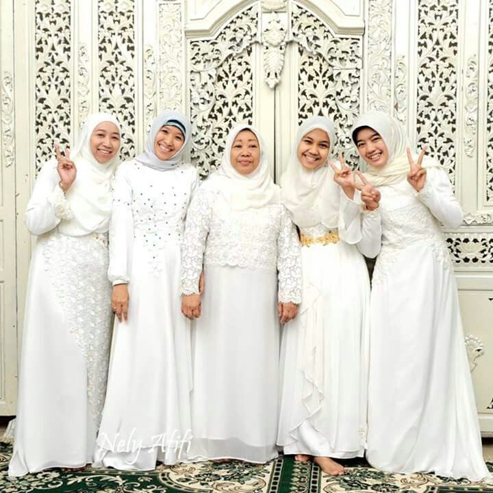 Gamis Putih Gaun Putih Seragam Pengajian Gamis Pesta Muslimah
