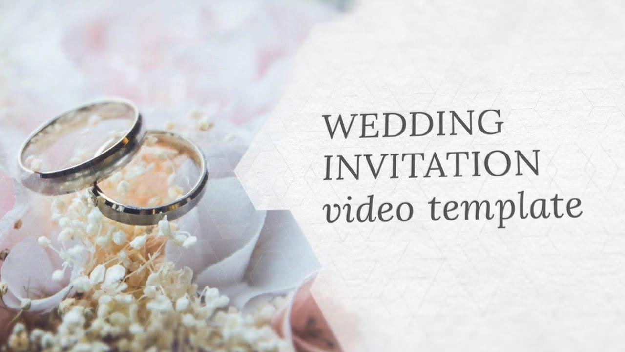 Wedding Invitation Free Download Elegant Wedding Invitation Video Template Editable In 2020 Wedding Invitation Video Wedding Invitation Maker Fun Wedding Invitations
