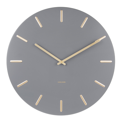 Allure Wall Clock Grey Wall Clock Clock Wall Clocks Uk