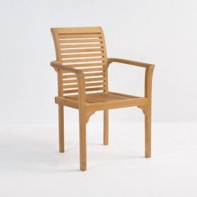 Treviso Stacking Teak Dining Chair Teak Chairs Teak Dining Chairs Outdoor Chairs