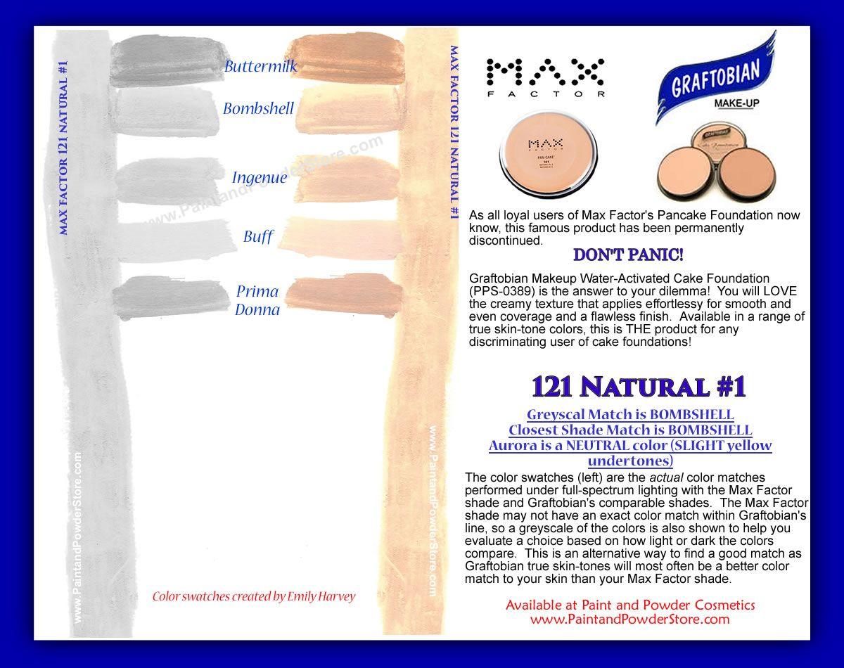 Max Factor Pan Cake Water Activated Makeup Natural No