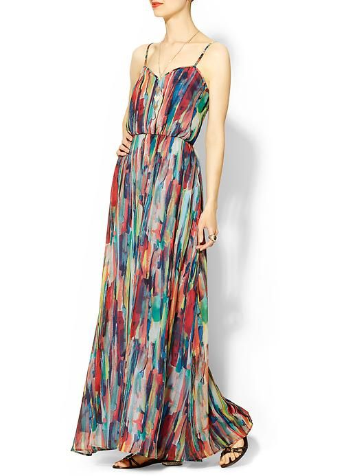 Shopping Beach Wedding Ready Print Maxi DressesPleated
